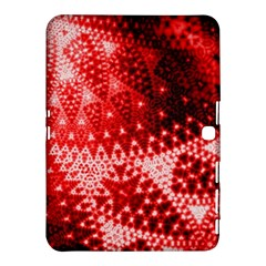 Red Fractal Lace Samsung Galaxy Tab 4 (10 1 ) Hardshell Case  by KirstenStar