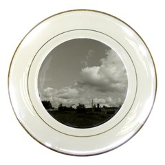Abandoned Porcelain Display Plate by ansteybeta