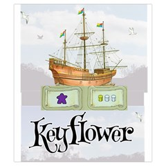 Keyflower Contracts By Kirk Dennison   Drawstring Pouch (small)   8xhih7zs0zdw   Www Artscow Com Front