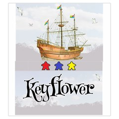 Keyflower Meeples By Kirk Dennison   Drawstring Pouch (large)   4t75zmf84s6i   Www Artscow Com Front