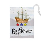 Keyflower Meeples - Drawstring Pouch (Large)