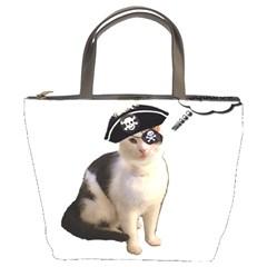 Pi Rate Cat Bucket Handbag