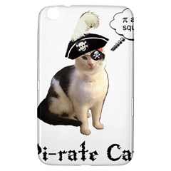 Pi Rate Cat Samsung Galaxy Tab 3 (8 ) T3100 Hardshell Case  by brainchilddesigns