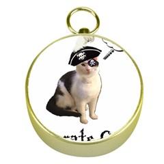 Pi Rate Cat Gold Compass