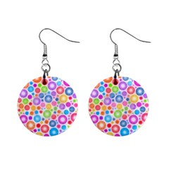 Candy Color s Circles Mini Button Earrings