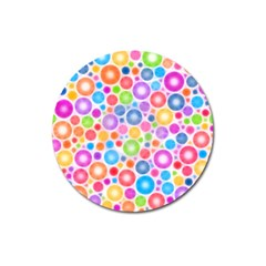 Candy Color s Circles Magnet 3  (round) by KirstenStar