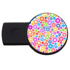 Candy Color s Circles 1GB USB Flash Drive (Round) by KirstenStar