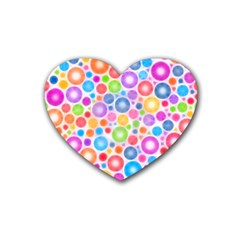 Candy Color s Circles Drink Coasters 4 Pack (heart)  by KirstenStar
