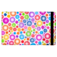 Candy Color s Circles Apple Ipad 3/4 Flip Case by KirstenStar
