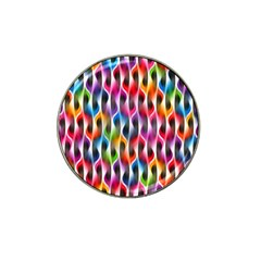 Rainbow Psychedelic Waves Golf Ball Marker (for Hat Clip)