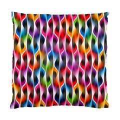 Rainbow Psychedelic Waves Cushion Case (single Sided)  by KirstenStar