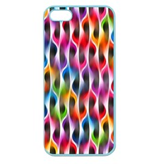 Rainbow Psychedelic Waves Apple Seamless Iphone 5 Case (color) by KirstenStar