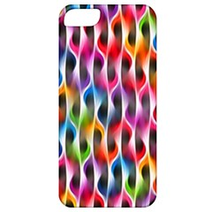 Rainbow Psychedelic Waves Apple Iphone 5 Classic Hardshell Case by KirstenStar