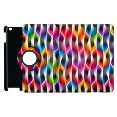 Rainbow Psychedelic Waves Apple Ipad 3/4 Flip 360 Case by KirstenStar