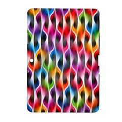 Rainbow Psychedelic Waves Samsung Galaxy Tab 2 (10 1 ) P5100 Hardshell Case  by KirstenStar
