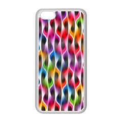 Rainbow Psychedelic Waves Apple Iphone 5c Seamless Case (white) by KirstenStar