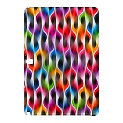 Rainbow Psychedelic Waves Samsung Galaxy Tab Pro 10 1 Hardshell Case by KirstenStar