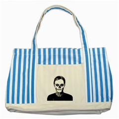 Tatezazzle Blue Striped Tote Bag by kramcox