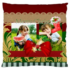 Xmas By Xmas   Large Cushion Case (two Sides)   2kfyd5q0l4wp   Www Artscow Com Back