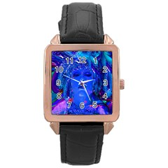 Organic Connection Rose Gold Leather Watch  by icarusismartdesigns
