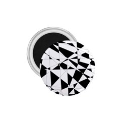Shattered Life In Black & White 1 75  Button Magnet by StuffOrSomething