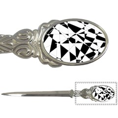 Shattered Life In Black & White Letter Opener