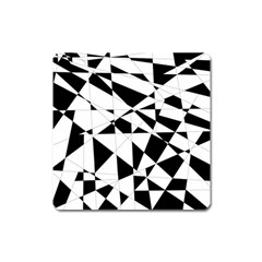 Shattered Life In Black & White Magnet (square) by StuffOrSomething