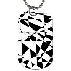 Shattered Life In Black & White Dog Tag (one Sided) by StuffOrSomething