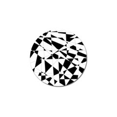 Shattered Life In Black & White Golf Ball Marker by StuffOrSomething