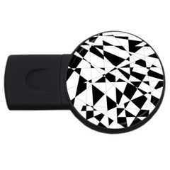 Shattered Life In Black & White 2GB USB Flash Drive (Round) by StuffOrSomething