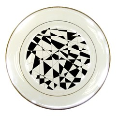 Shattered Life In Black & White Porcelain Display Plate by StuffOrSomething