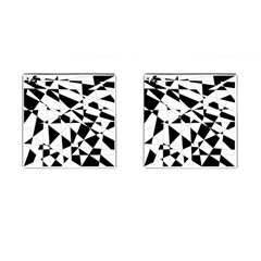Shattered Life In Black & White Cufflinks (square) by StuffOrSomething
