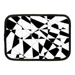Shattered Life In Black & White Netbook Sleeve (medium) by StuffOrSomething