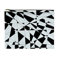 Shattered Life In Black & White Cosmetic Bag (xl) by StuffOrSomething