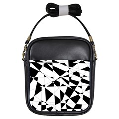Shattered Life In Black & White Girl s Sling Bag by StuffOrSomething