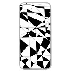 Shattered Life In Black & White Apple Seamless Iphone 5 Case (clear) by StuffOrSomething
