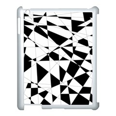 Shattered Life In Black & White Apple Ipad 3/4 Case (white) by StuffOrSomething
