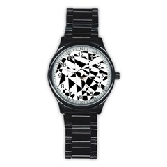 Shattered Life In Black & White Sport Metal Watch (black) by StuffOrSomething