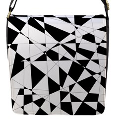 Shattered Life In Black & White Flap Closure Messenger Bag (small) by StuffOrSomething