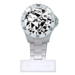 Shattered Life In Black & White Nurses Watch
