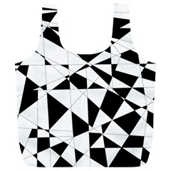 Shattered Life In Black & White Reusable Bag (xl) by StuffOrSomething