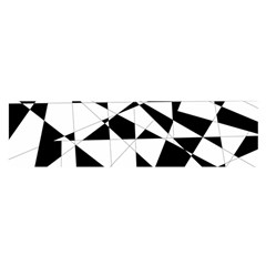 Shattered Life In Black & White Satin Scarf (oblong)