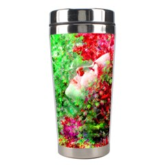 Summer Time Stainless Steel Travel Tumbler by icarusismartdesigns