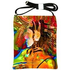 Robot Connection Shoulder Sling Bag by icarusismartdesigns