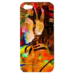 Robot Connection Apple Iphone 5 Hardshell Case by icarusismartdesigns