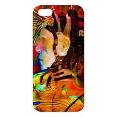 Robot Connection Iphone 5s Premium Hardshell Case by icarusismartdesigns