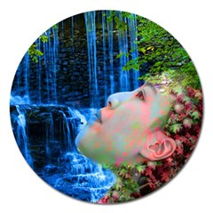 Fountain Of Youth Magnet 5  (round) by icarusismartdesigns
