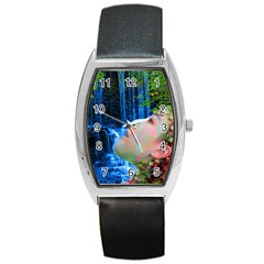 Fountain Of Youth Tonneau Leather Watch by icarusismartdesigns