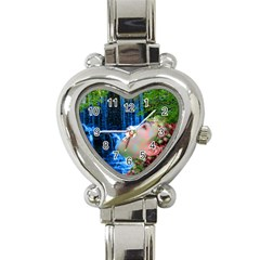 Fountain Of Youth Heart Italian Charm Watch  by icarusismartdesigns