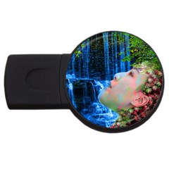 Fountain Of Youth 4gb Usb Flash Drive (round) by icarusismartdesigns